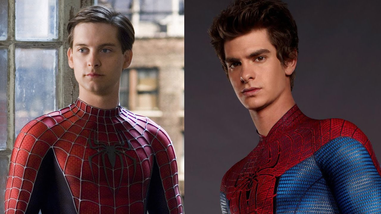 Tobey Maguire (zdjęcie po lewej) i Andrew Garfield (zdjęcie po prawej) jako Peter Parker