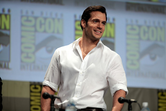 Henry Cavill speaking at the 2014 San Diego Comic Con International, for