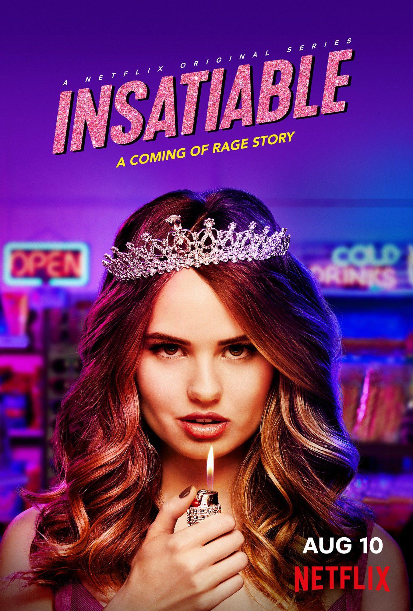 Plakat promujący Insatiable z Debby Ryan w roli głównej