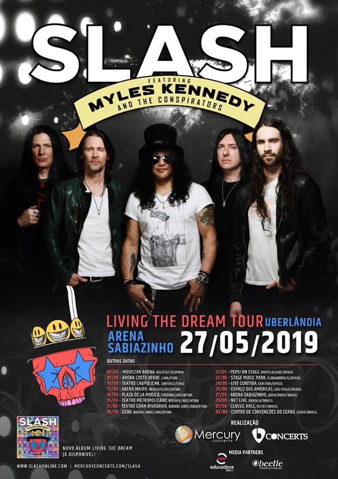 Slash rozszerza trasę Living The Dream o kolejne koncerty!