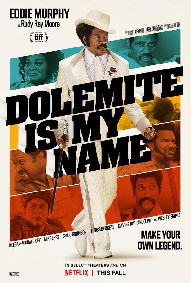 """Plakat promujący """"Dolemite is my name"""". Źródło: materiały prasowe"""