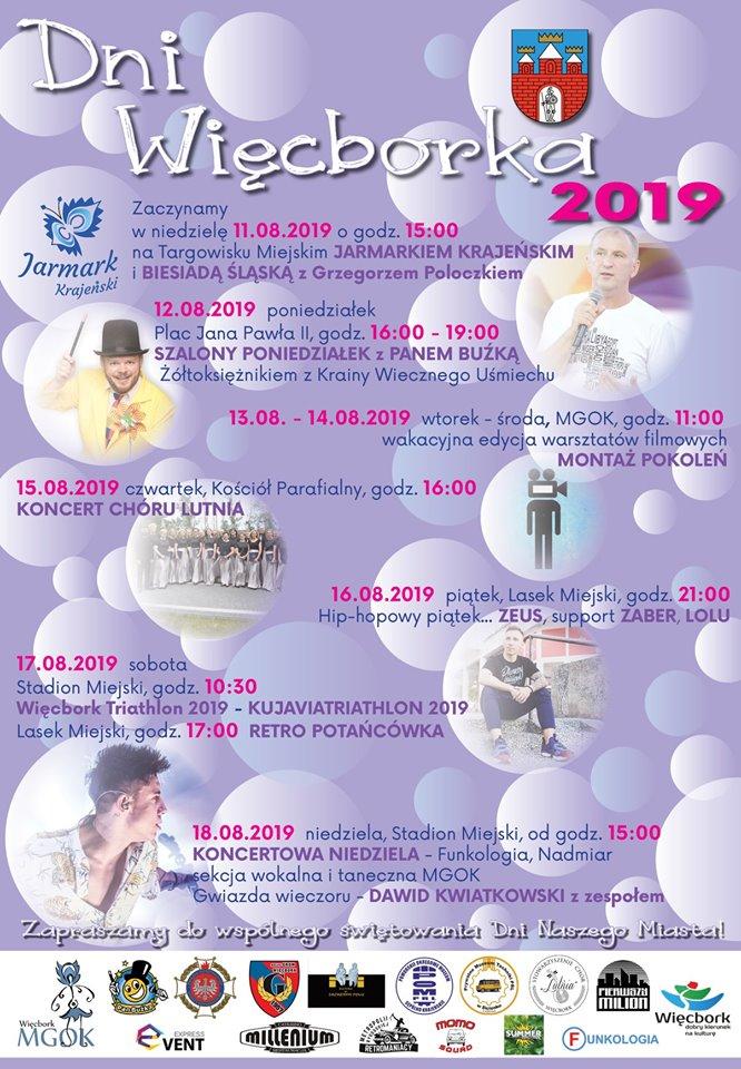 Dni Więcborka 2019 - program imprezy