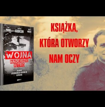 Wojna nadejdzie jutro. Okładka książki i Stanisław Aronson podczas służby w II Korpusie