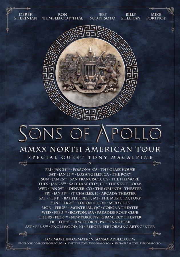 Rozpiska zimowej trasy Sons Of Apollo