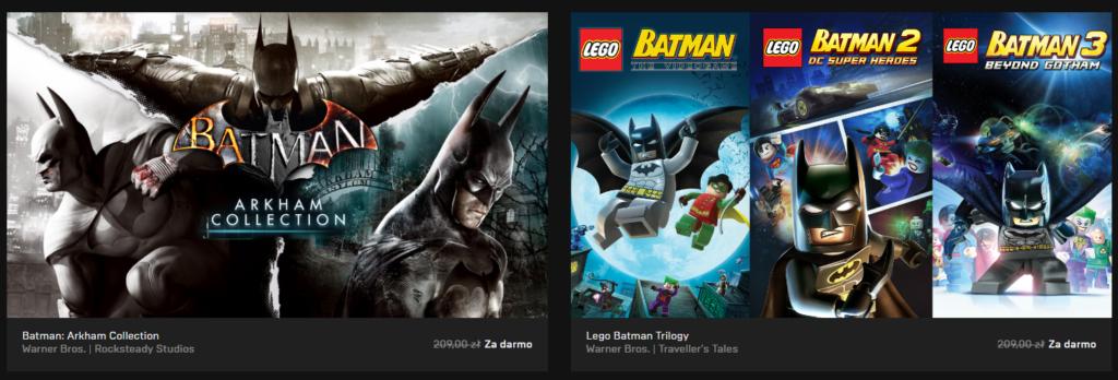 Epic Games Store Batman Arkham LEGO Batman