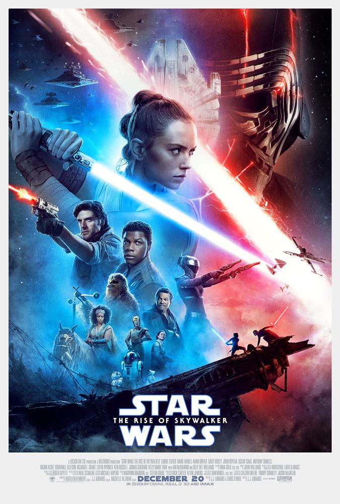 Plakat filmu Star Wars: Thre rise of Skywalker / Gwiezdne Wojny: Skywalker. Odrodzenie