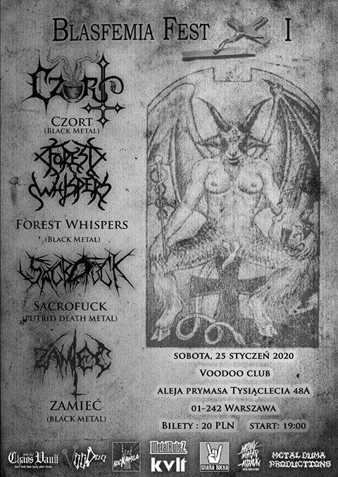 Oficjalny plakat pierwszej edycji Blasfemia Fest