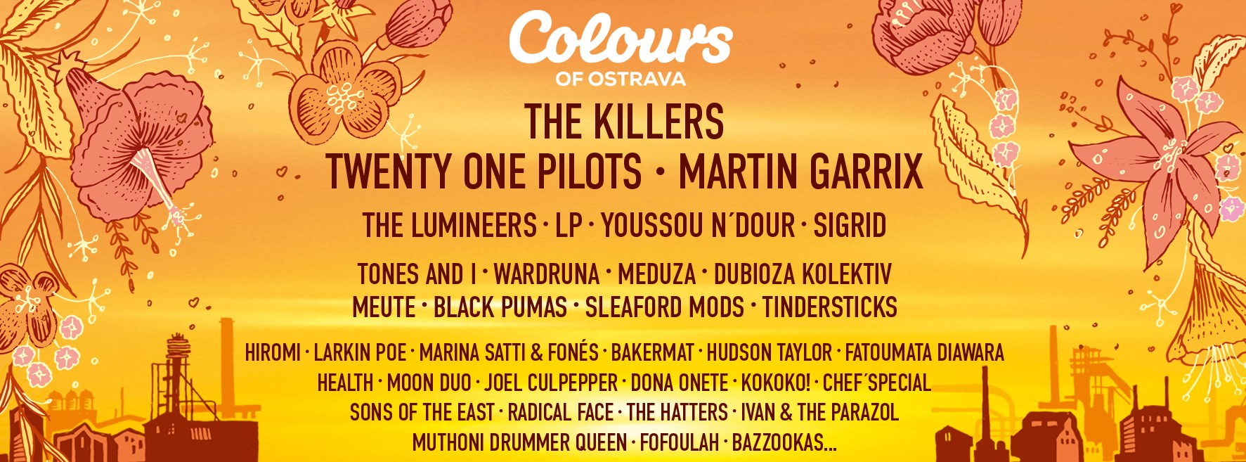 Line up Colours of Ostrava 2020